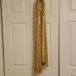 Sequin scarf gold